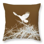 Inverted Crow Throw Pillow