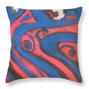 Inverted Dream Beings Throw Pillow