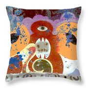 Inverted Graffiti Throw Pillow
