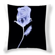 Inverted Sketch Of A Rose Throw Pillow