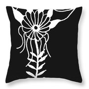 Inverted Small Flower Throw Pillow