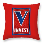 Invest In Victory - World War 2 Throw Pillow