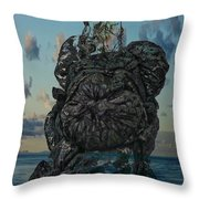 Invisable Lady Throw Pillow