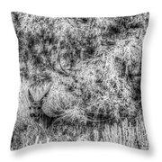 Invisible Nature One Mono  Throw Pillow