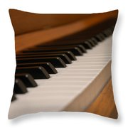 Invisible Pianist Throw Pillow