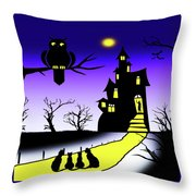 Invited To The Cat House Throw Pillow