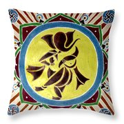 Invocation Throw Pillow by Karunita Kapoor