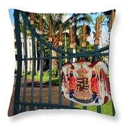 'iolani Palace Throw Pillow