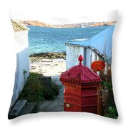 Iona Post Office Throw Pillow