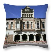 Watsonville I. O. O. F. Building Built In 1893  Damaged By The Loma Prieta Earthquake 1989 Throw Pillow