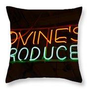 Iovines Produce Throw Pillow