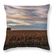 Iowa Corn Fields In The Fall Throw Pillow
