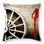 Iowa Hydrant Throw Pillow