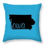 Iowa In Black Throw Pillow