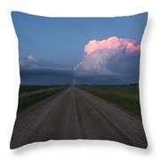Iowa Supercell Throw Pillow