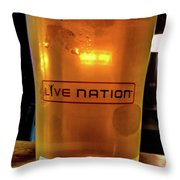 Ipa Beer In Live Nation Cup At Shoreline Amphitheatre During Dead And Company Throw Pillow