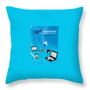 iPhone apps development company Sharjah Throw Pillow