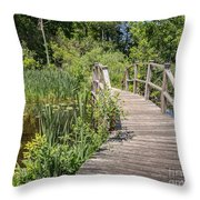 Ipswich River Bridge Throw Pillow