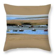 Ipswich River Clammers 2 Throw Pillow