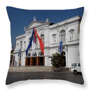Iquique Chile Courtyard Throw Pillow