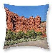 Ir-13 Cliffs Throw Pillow