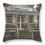 Ira V Ferguson's Country Store Throw Pillow