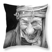 Iranian Man Throw Pillow
