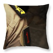 Iraqi Air Force General Sports A Big Throw Pillow