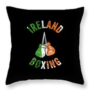Ireland Boxing Color Light Boxers Irish Cool Gift Funny Flag Throw Pillow