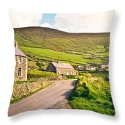 Ireland Farmland Throw Pillow