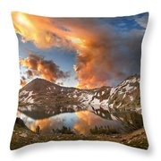 Ireland Lake Sunrise - Yosemite Throw Pillow