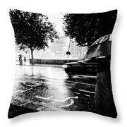 Ireland Rain Throw Pillow