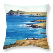 Ireland Sea Throw Pillow