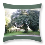 Ireland Tree Throw Pillow