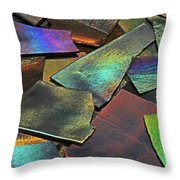 Iridescence Angles, Curves Greens Blues Browns Rusts Yellows Geometric 2 8312017  Throw Pillow