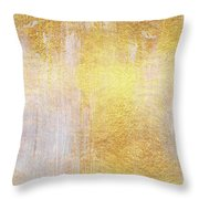 Iridescent Abstract Non Objective Golden Painting Throw Pillow