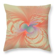 Iridescent Pink Throw Pillow