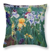 Iris Abun-dance Throw Pillow
