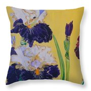 Iris Afternoon Delight Throw Pillow