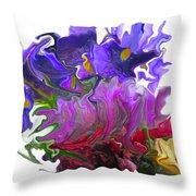 Iris And Tulip Throw Pillow