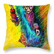 Iris Apfel Throw Pillow