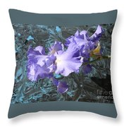 Iris Azulez Throw Pillow