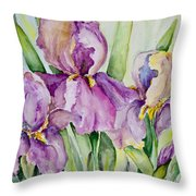 Iris Beauties Throw Pillow