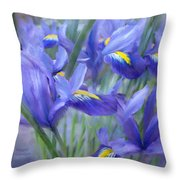 Iris Bouquet Throw Pillow