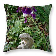 Iris Canopy Throw Pillow