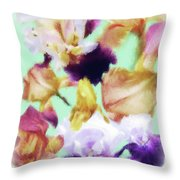 Iris Collage Throw Pillow