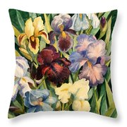 Iris Collection Throw Pillow
