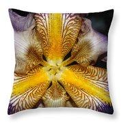 Iris Details Throw Pillow