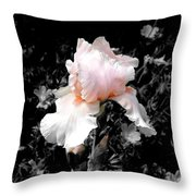 Iris Emergance Throw Pillow