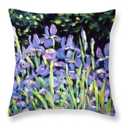 Iris En Folie Throw Pillow
